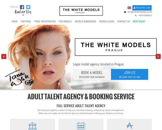 The White Models Logo